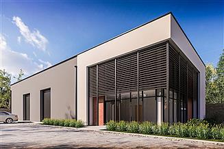 Projekt magazynu G402 - Budynek biurowo - magazynowy