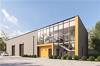Projekt magazynu G404 - Budynek biurowo - magazynowy