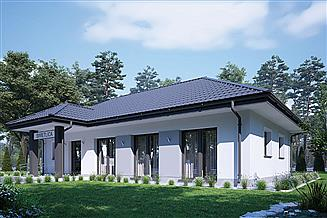Projekt budynku usługowego Murator UC67d Budynek usługowy