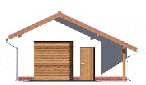 Projekt Garażu G21 Garaż Jednostanowiskowy Z Pomieszczeniem
