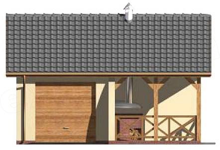Projekt Garażu G41 Garaż Jednostanowiskowy Z Pomieszczeniem