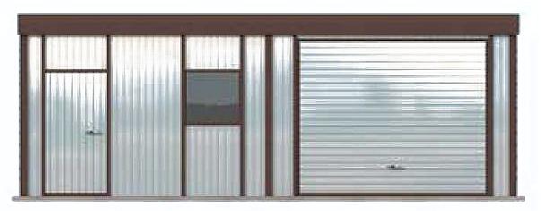 Projekt Garażu Gb4 Garaż Blaszany Jednostanowiskowy Z Pomieszczeniem