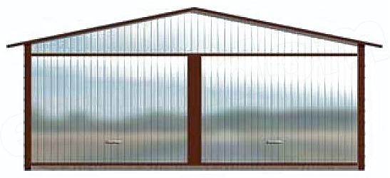 Projekt Garażu Gb6 Garaż Blaszany Dwustanowiskowy 3543 M2 Koszt