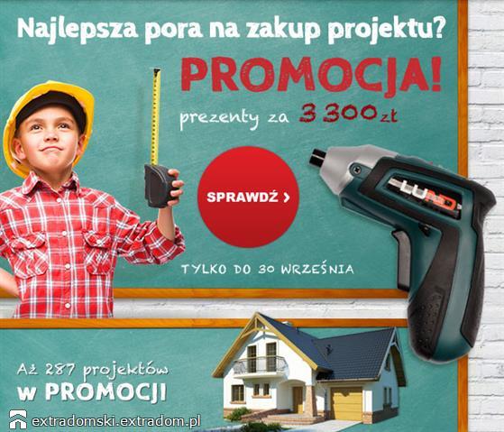 Jeżeli nie zakupiłeś jeszcze projektu domu, to teraz jest na to najlepsza okazja!